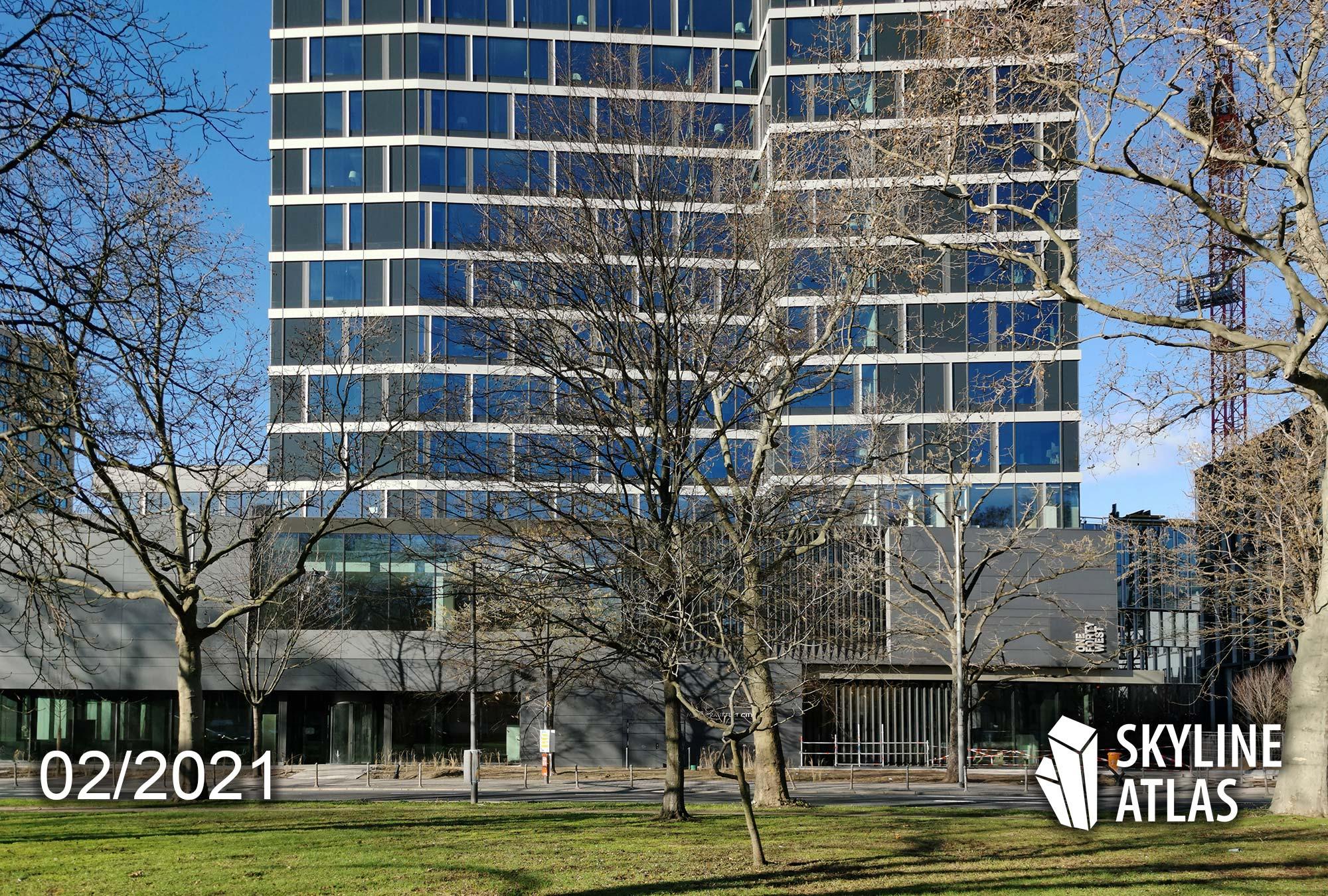 140 West Frankfurt - ONE FORTY WEST Baustelle - Melia Frankfurt Hotel - Baufortschritt Februar 2021 - Projekt von Commerz Real - Entworfen von CMA