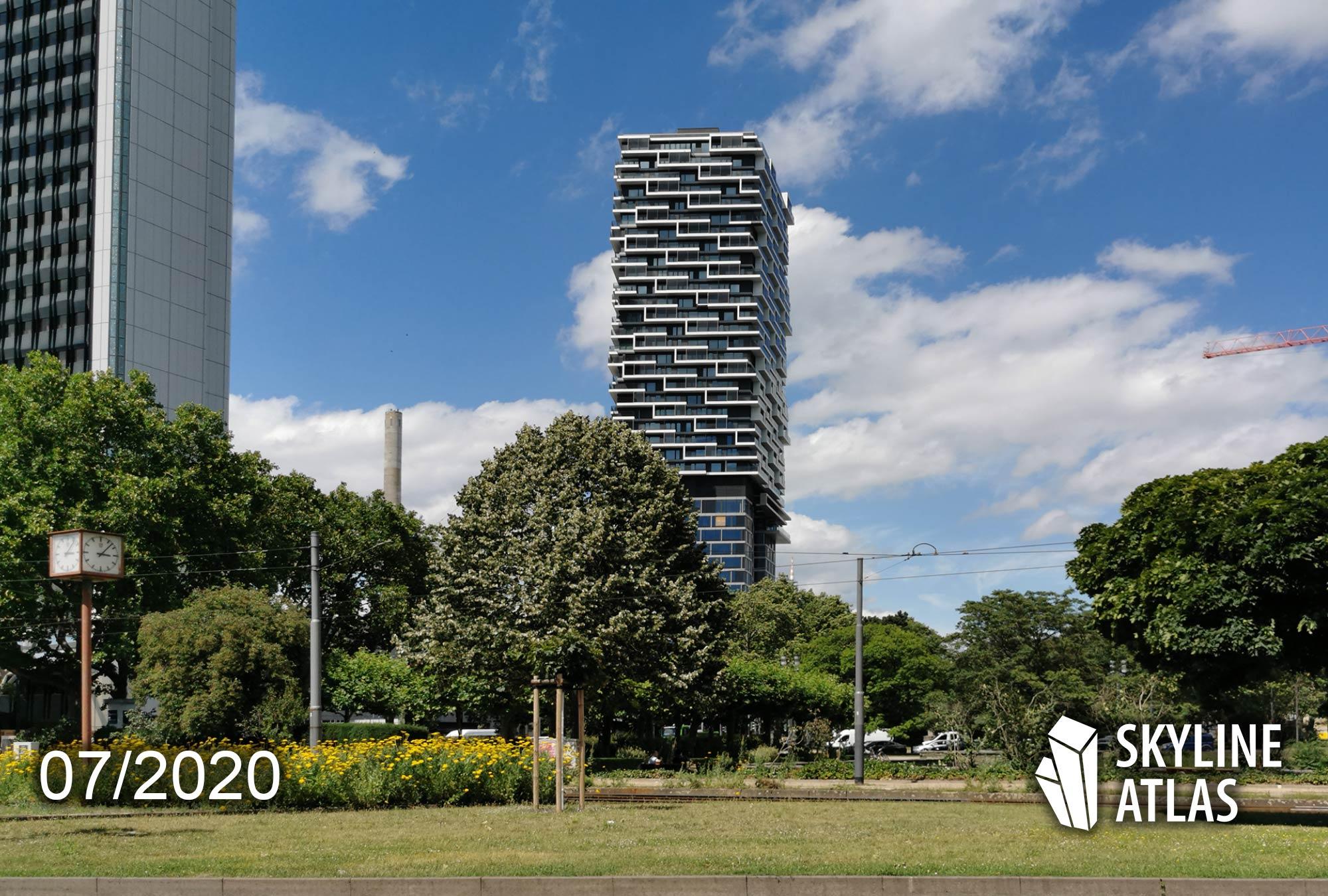 140W - ONE FORTY WEST - Neuer Wolkenkratzer Frankfurt - Apartmentturm - Wohnturm mit Hotel und Skybar - Sommer 2020 - cyrus moser - Groß und Partner - Commerz Real