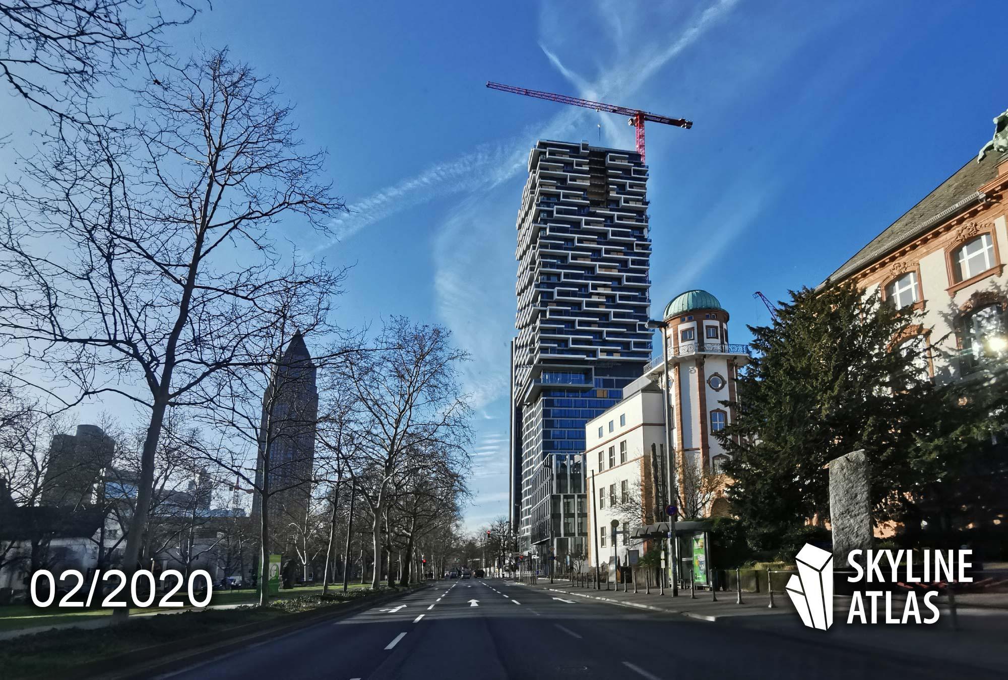 140West Frankfurt - 140 West - Neues Hochhaus ONE FORTY WEST - Senckenberg Quartier - Hochhaus Kulturcampus - Baufortschritt Februar 2020