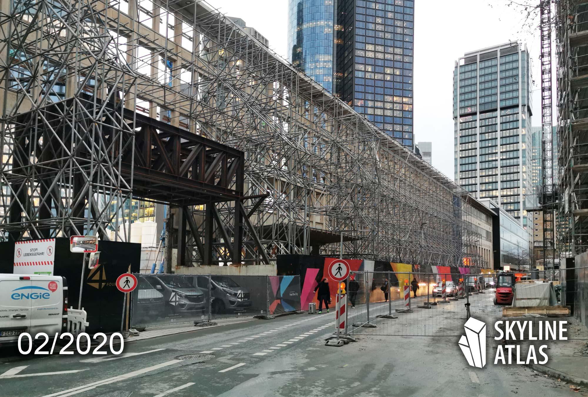 4 Frankfurt - Four Frankfurt - 4Frankfurt - Hochhäuser - Baufortschritt Februar 2020 - Baustelle 2020