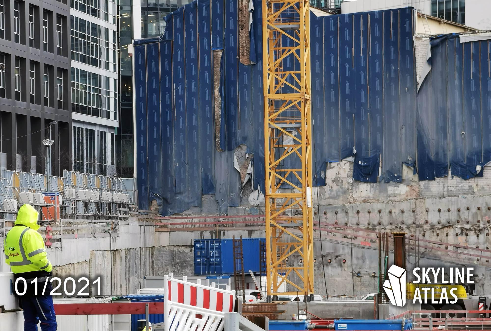 4Frankfurt Baustell - Baufortschritt 4 Frankfurt - Baufortschritt Grundstück Groß & Partner - neues Immobilienprojekt FFM Jan 2021