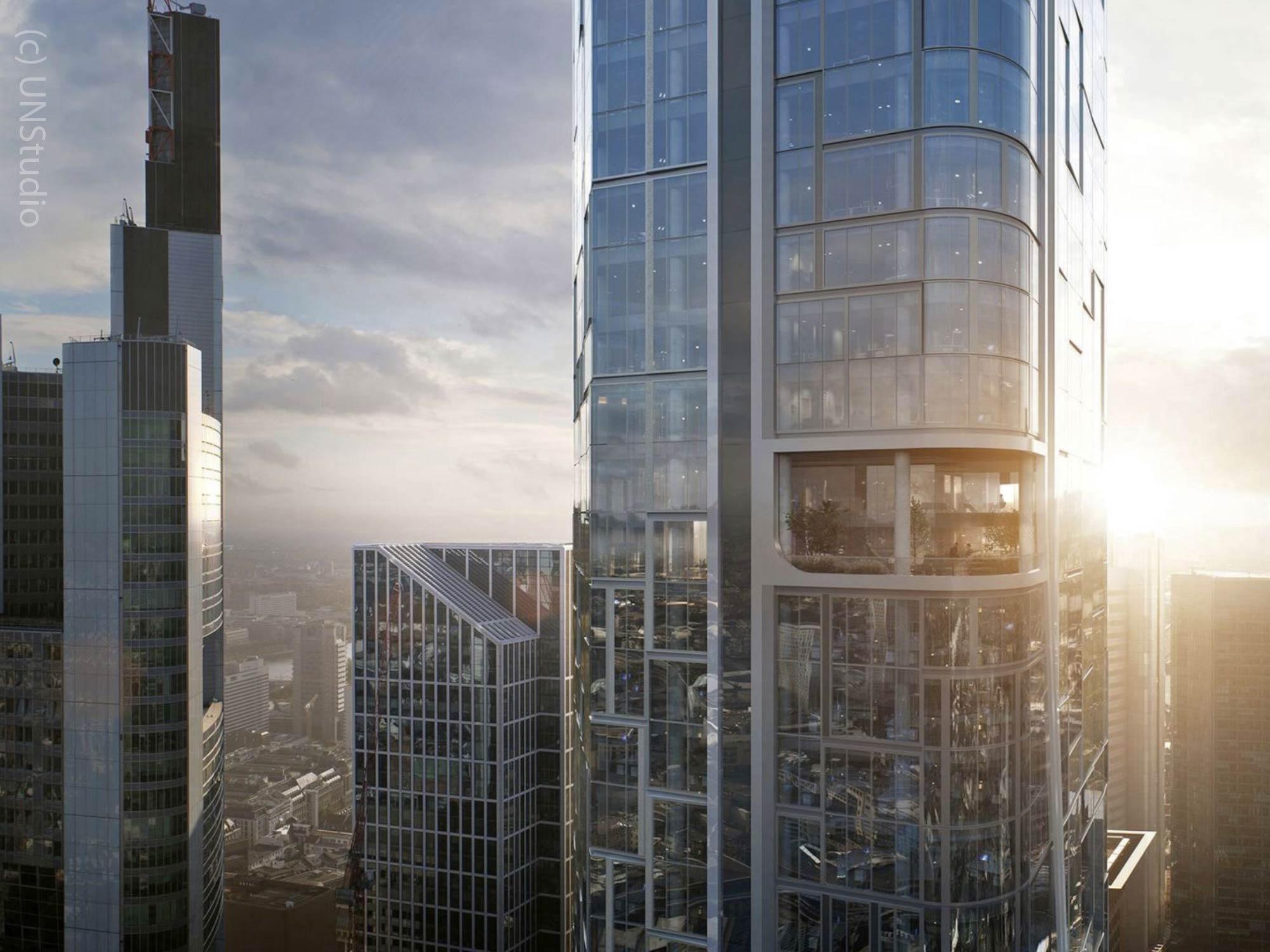 4Frankfurt Wolkenkratzer von Groß und Partner - gestaltet von UNStudio und HPP