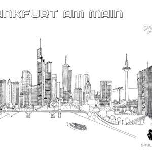 Ausmalbilder über Frankfurt