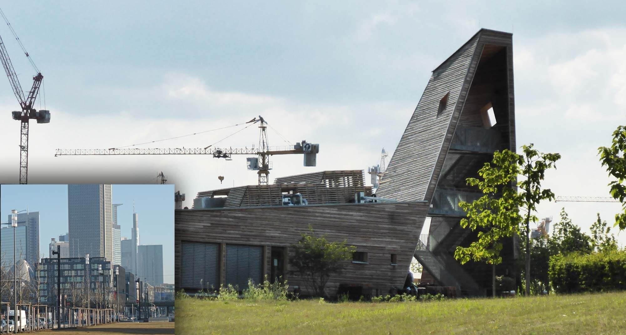 Laube Liebe Hoffnung - Aussichtsturm aus Holz im Europaviertel - kostenfrei