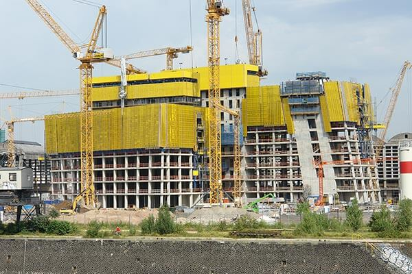 Die Baustelle der EZB in Frankfurt im Jahre 2011