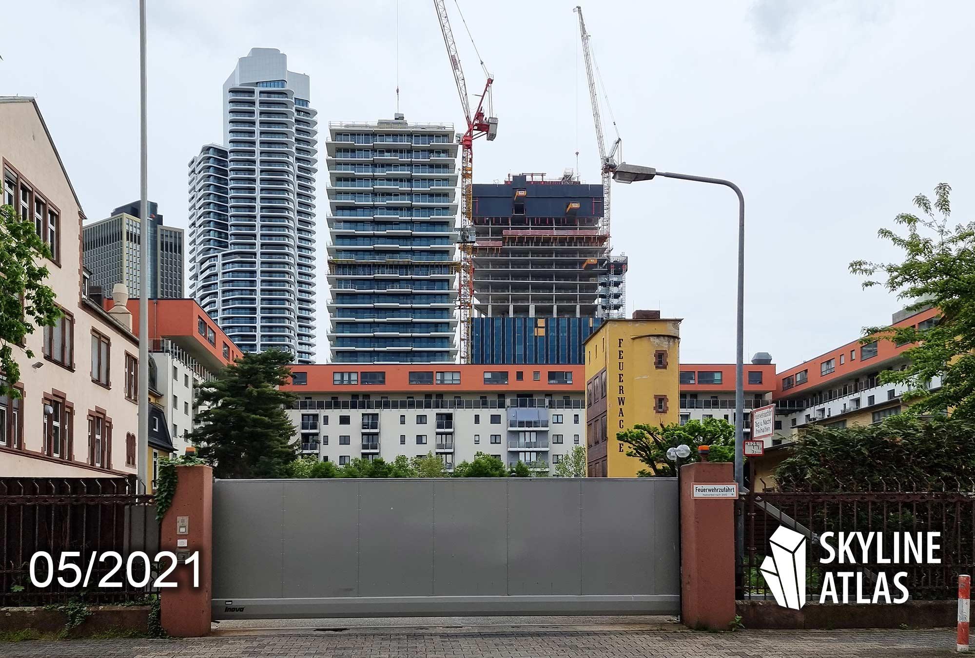 Eden Tower Frankfurt - Eden Frankfurt - Baustelle Mai 2021 - Wohnungen Europaviertel - Eden Tower Wohnungen - Projektentwickler Immobel