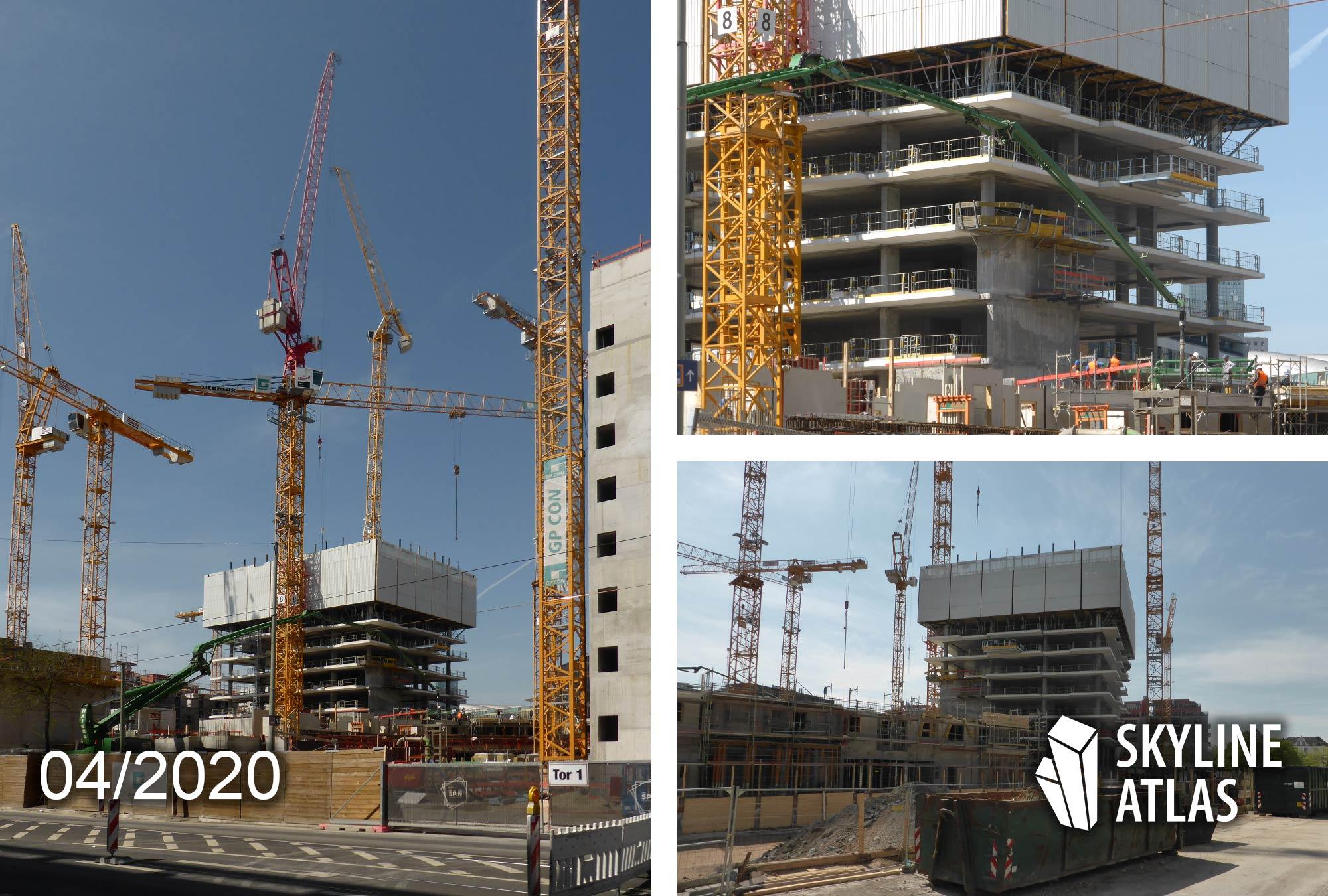 EDEN Tower Frankfurt - The EDEN - EDEN Frankfurt Baufortschritt - Neubau Wohnungen Hochhaus - April 2020