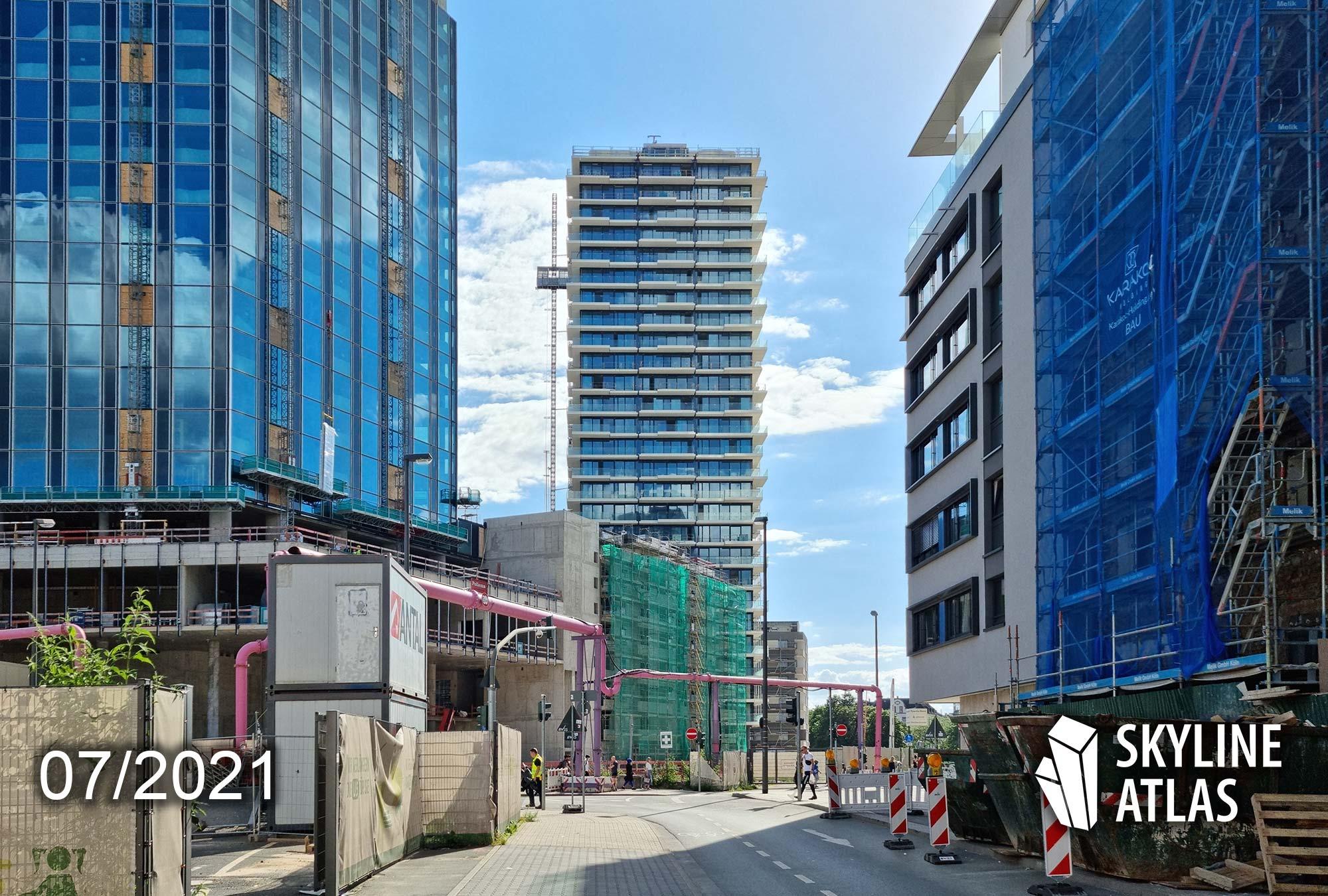 Eden Tower Frankfurt Wohnungen - Eden Tower Eigentumswohnungen - Baustelle Juli 2021
