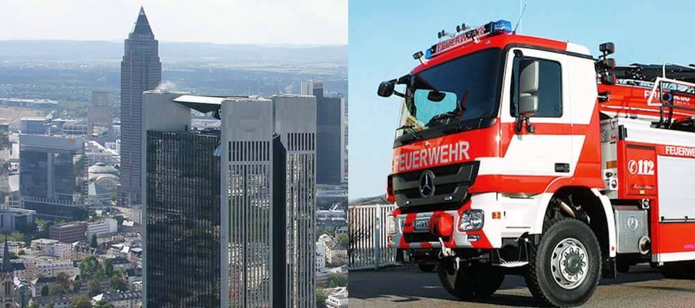 Höhenrettung der Feuerwehr Frankfurt