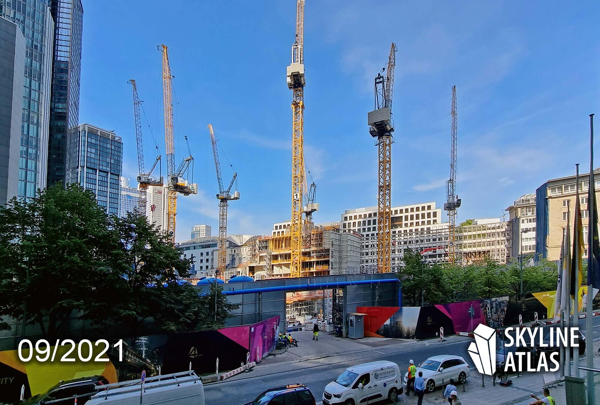 Four FFM - For Frankfurt - FOUR Frankfurt - Wolkenkratzer Bankenviertel - Baustelle - Groß und Partner - September 2021
