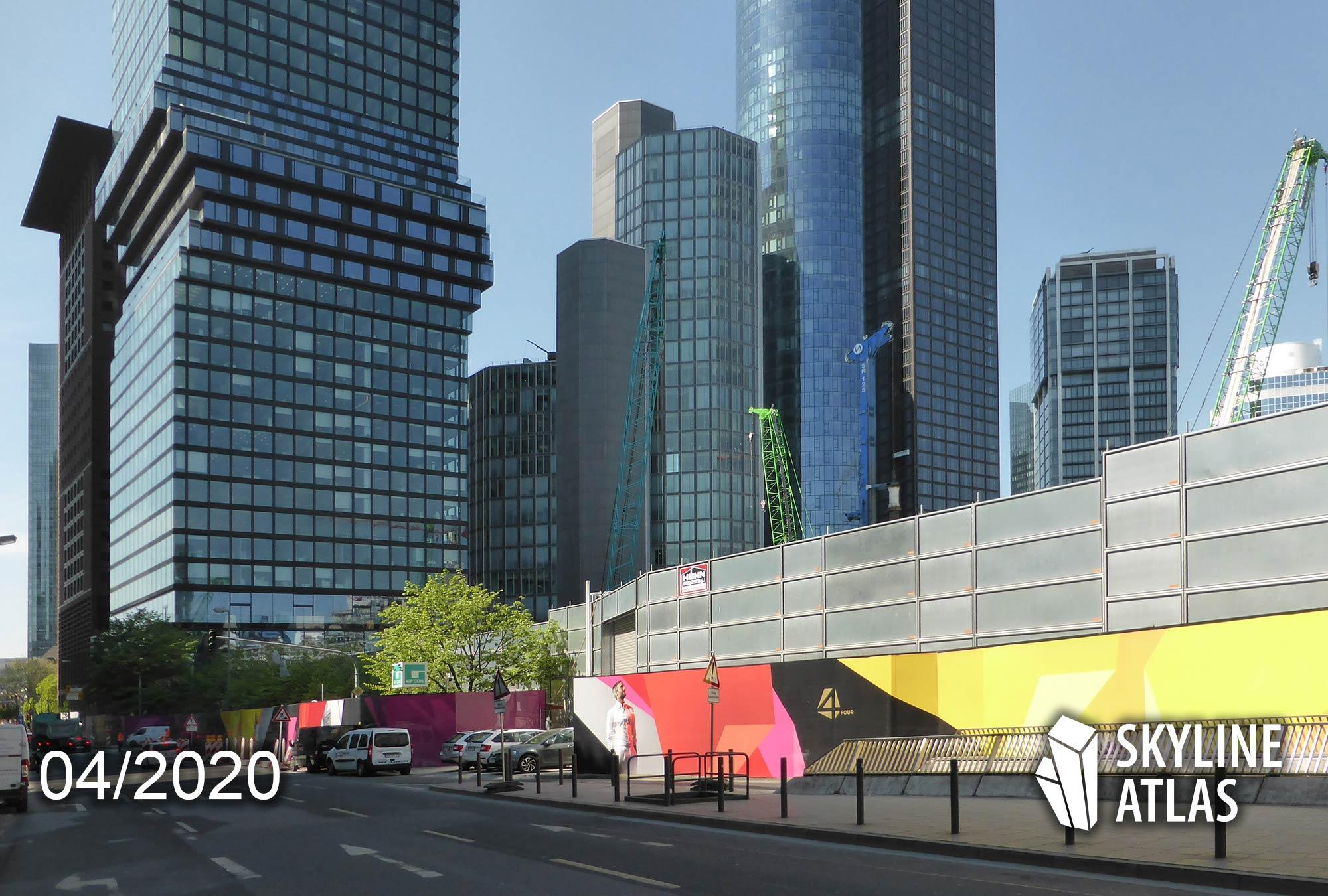 4Frankfurt - FOUR FRANKFURT - Baustelle im April 2020 - Neues Hochhauscluster CBD Frankfurt