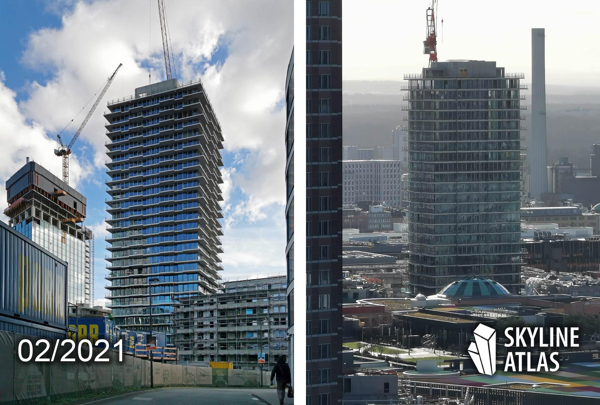 Frankfurt EDEN Tower by Immobel - EDEN FFM - Baustelle Februar 2021