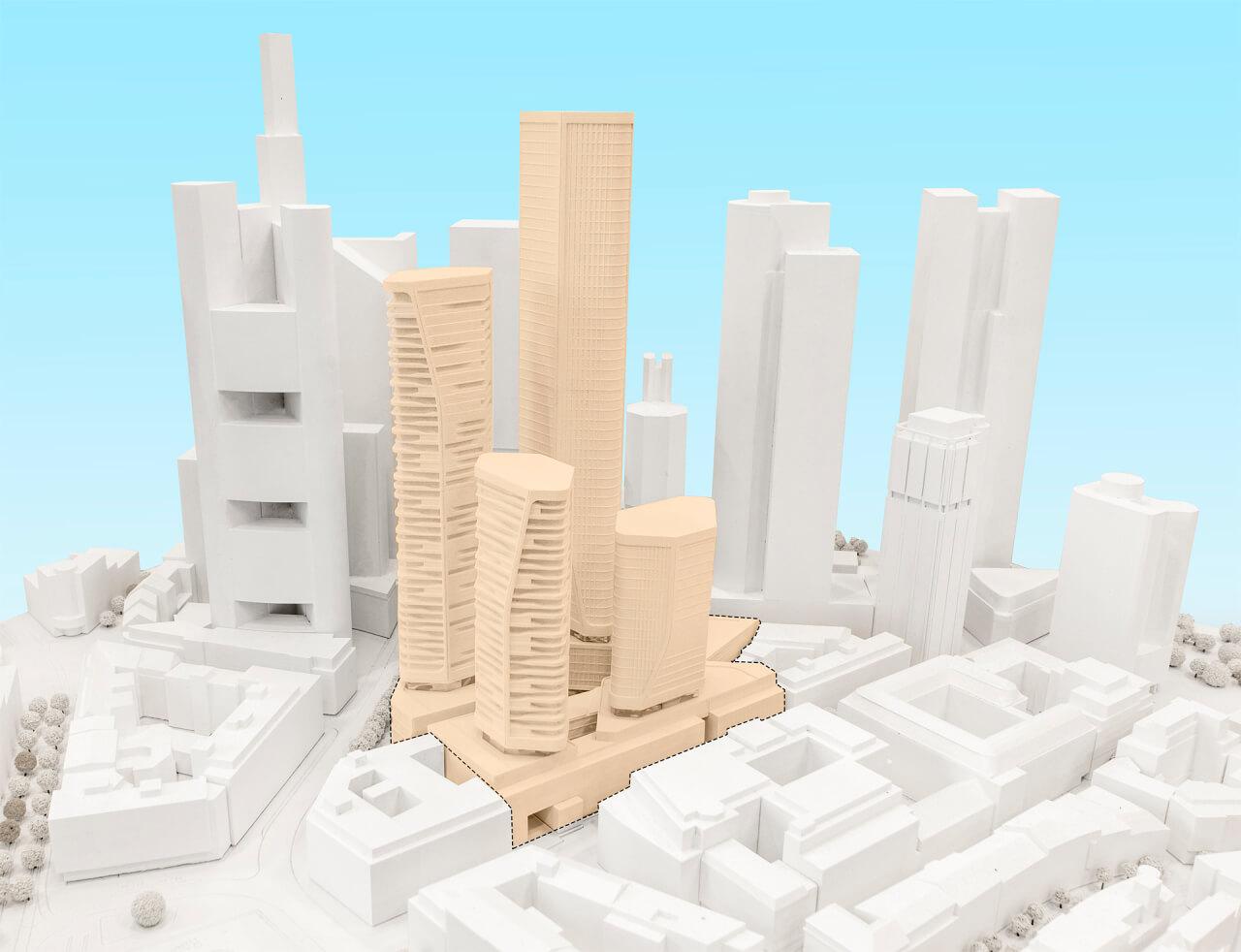 Groß und Partner entwickelt vier Hochhäuser im Bankenviertel