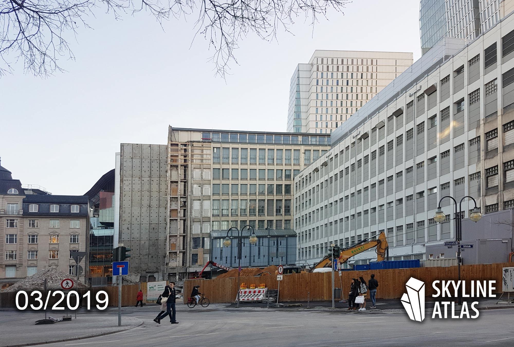 Neues Hochhaus Frankfurt - High Lines Wohntürme in der Stiftstraße - ehemals Drei Schwestern