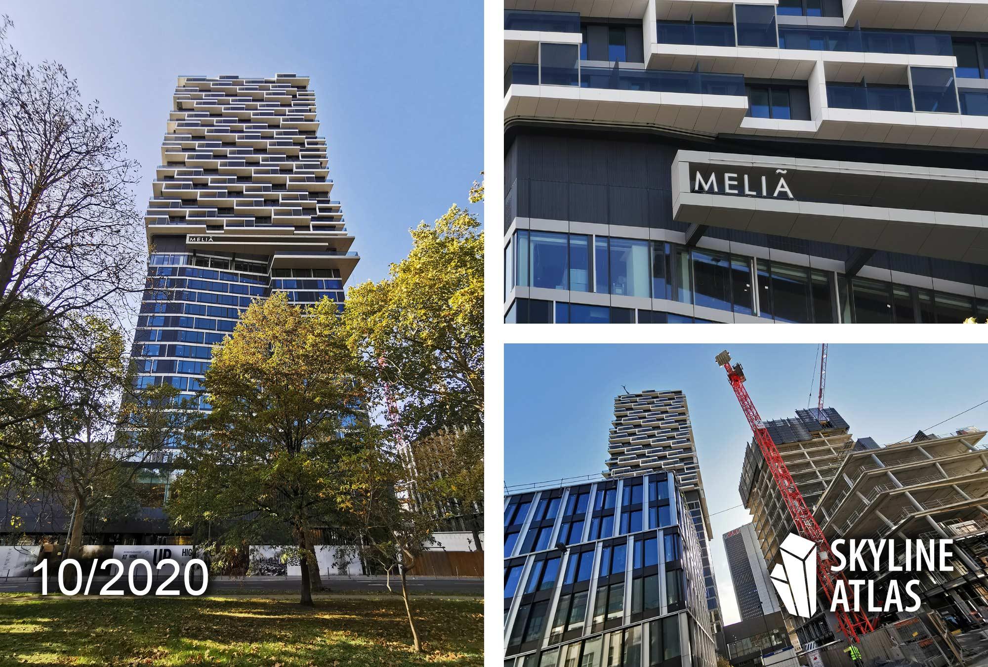 Meliá Hotel Frankfurt - Frankfurt Westend Hochhaus - Bockenheim Hotel - ONE FORTY WEST - 140 West - Entworfen von Cyrus Moser - Baustelle Oktober 2020