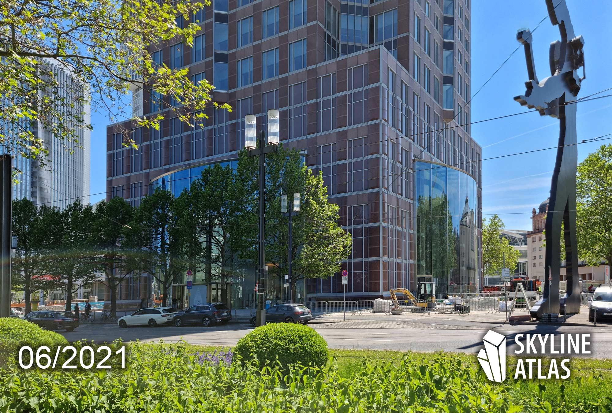 MesseTurm FFM - MesseTurm Renovierung - MesseTurm Juni 2021 - Umbau Fassade