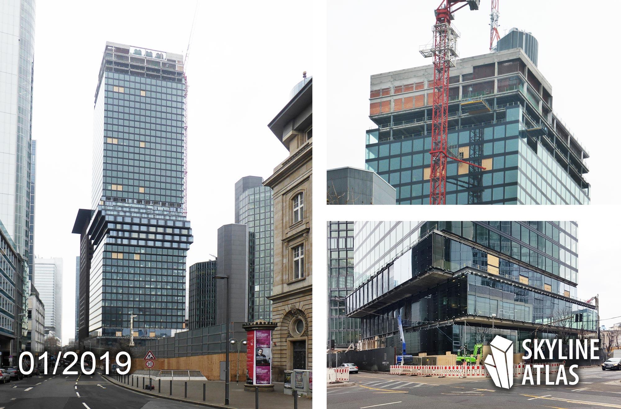 OmniTurm Frankfurt - CBD - Bankenviertel - Wolkenkratzer entworfen von BIG Bjarke Ingels Group - entwickelt vom Projektentwickler Tishman Speyer