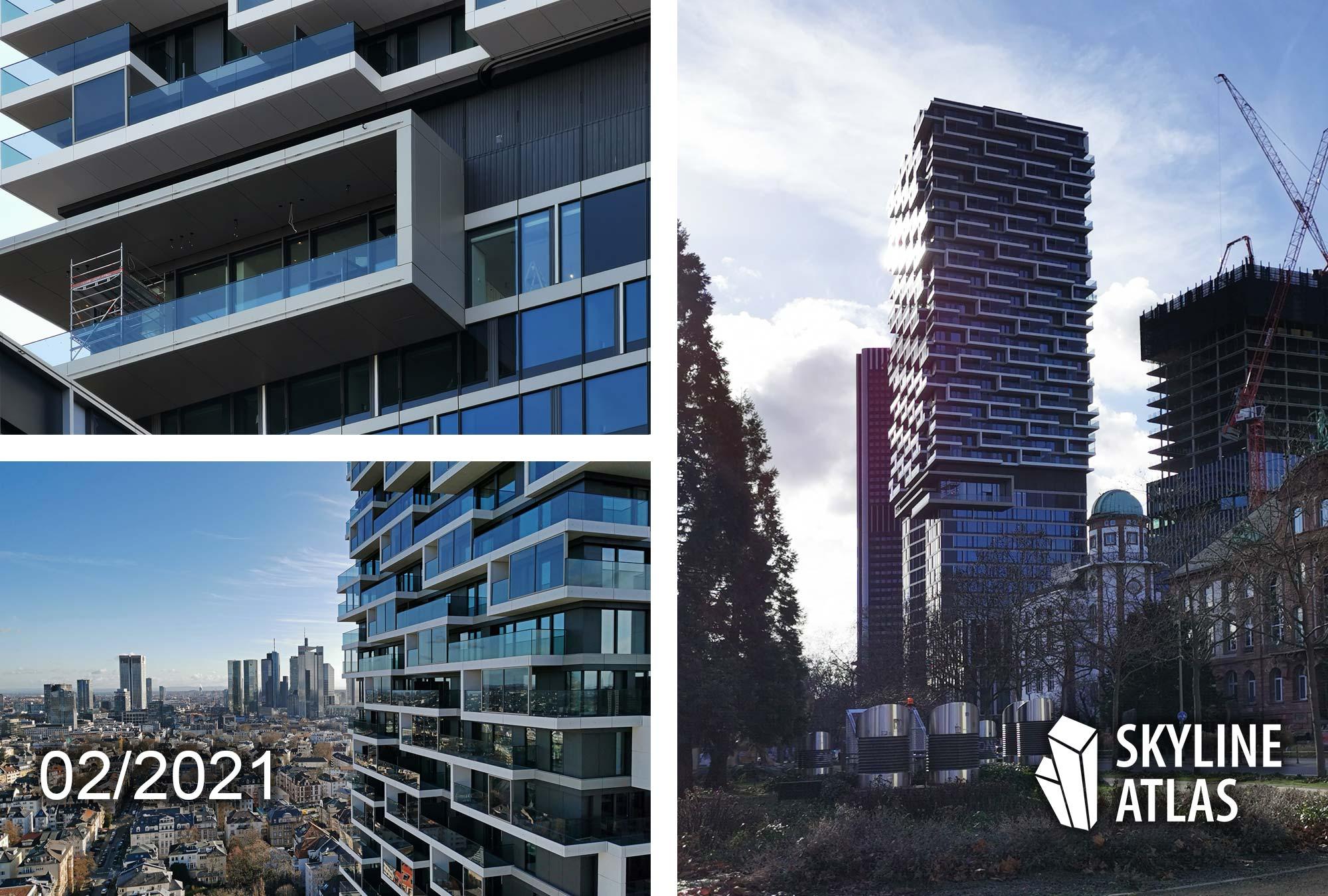 ONE FORTY WEST FFM - Entworfen von cyrus moser architekten - Hochhaus Bastelle 140 West Februar 2021