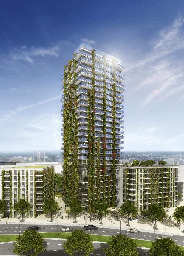 Geplantes Wohnhochhaus Tower 90 erhält hängende Gärten