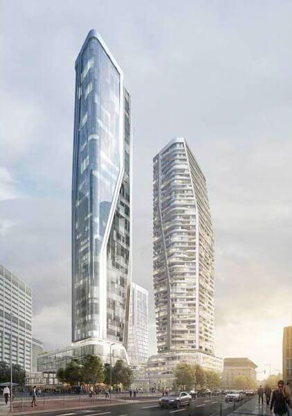 Hochhäuser auf dem Gebiet der ehemaligen Deutsche Bank (c) UNStudio