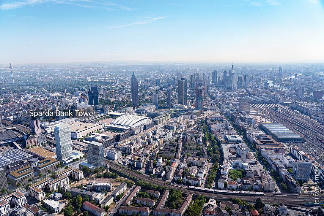 Europaviertel Frankfurt - neues Hochhaus der Sparda-Bank Hessen eG