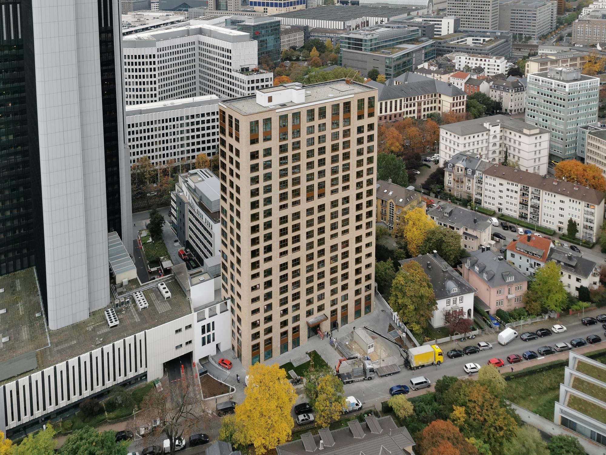 Frankfurt Blue Horizon Wohn Hochhaus - Wohnungen Wolkenkratzer Frankfurt