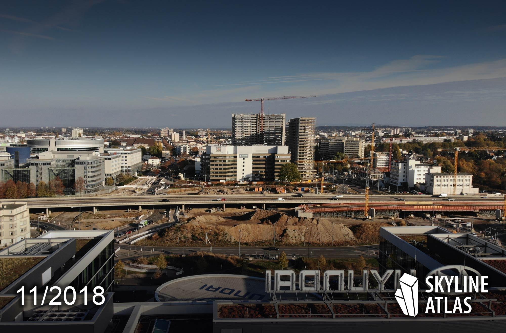 Kaiserlei Offenbach Kreisel - mit New Frankfurt Towers - CG Gruppe - Eike Becker Architekten