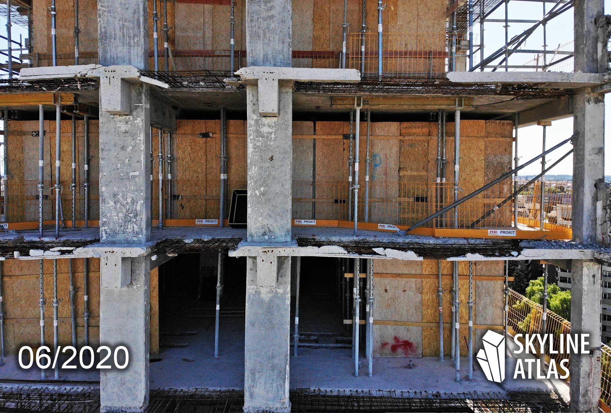 Höchstleistung für die Ingenieure und Bauarbeiten - Arbeiten am Tragwerk - Luxuswohnungen in Offenbach - Zum Einsatz kommt das PERI Prokit - New Frankfurt Towers - Baustelle Offenbach am Main - Kleinwohnungen zur Miete