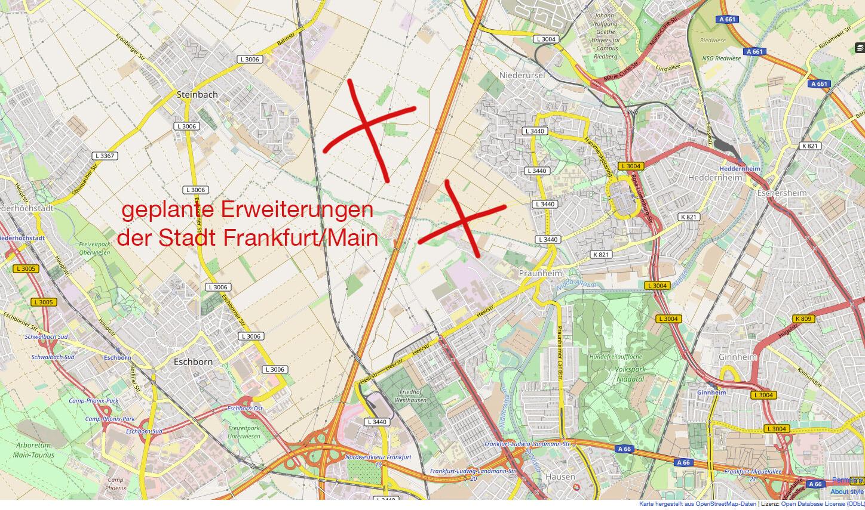 Frankfurt Neuer Stadtteil im Westen geplant