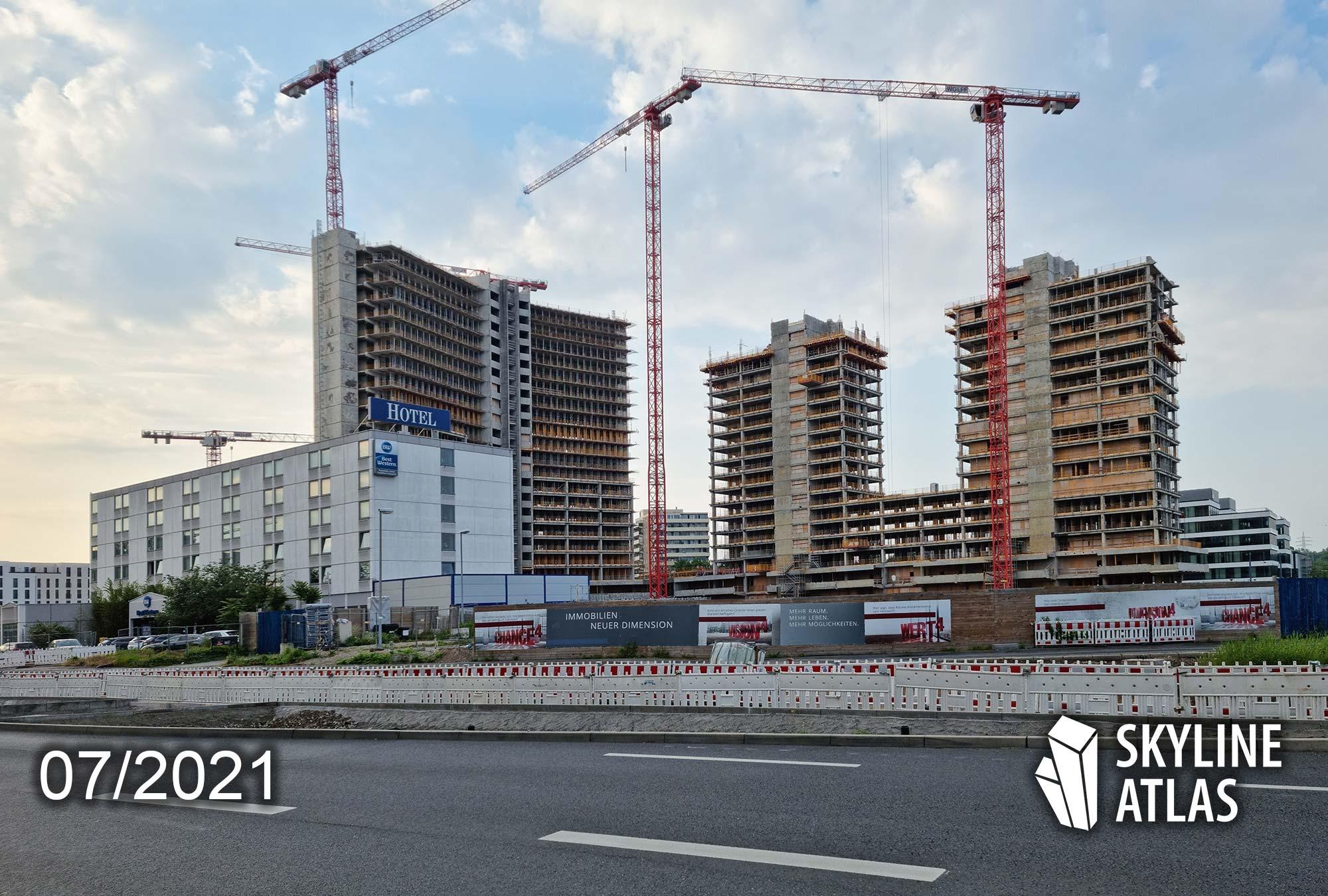 Vitopia Campus Frankfurt/Offenbach - Baustelle - Juli 2021 - Wohnungen Offenbach - Eigentumswohnungen mit Ausblick