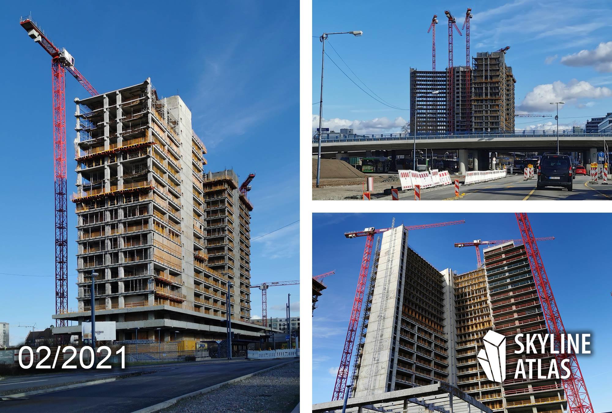 Vitopia Campus Offenbach am Main - Baustelle Februar 2021 - Baufortschritt - Architektur Eike Becker Architekten, Berlin