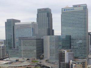 Canary Wharf Bürogebiet Wolkenkratzer Brexit