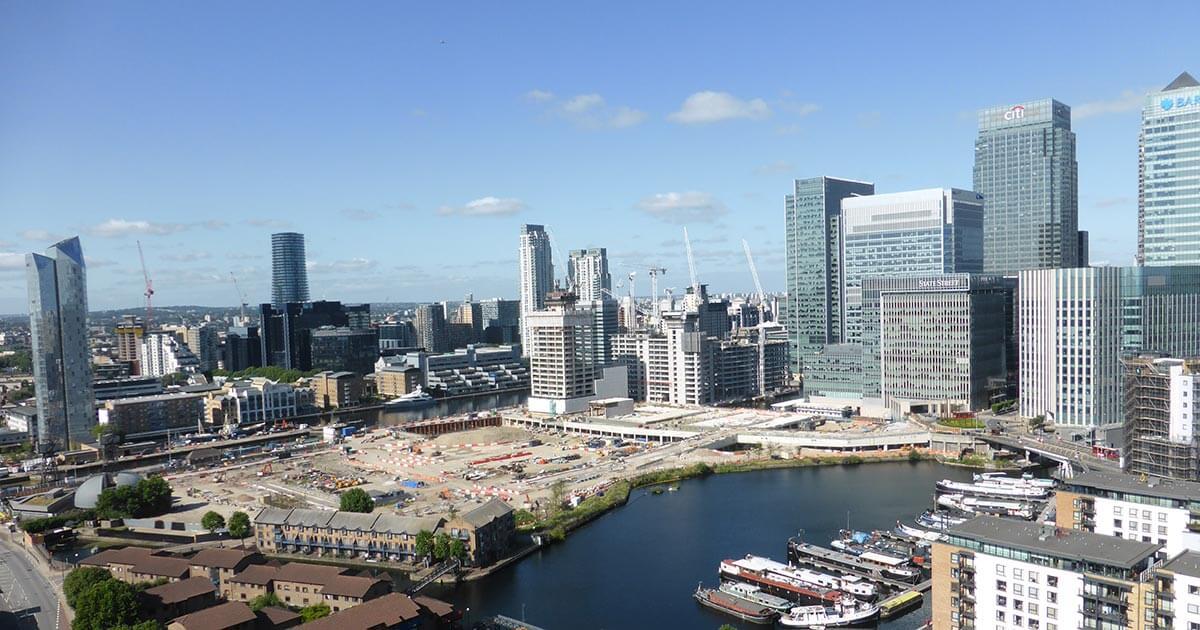 Canary Wharf Hochhäuser Brexit London Frankfurt