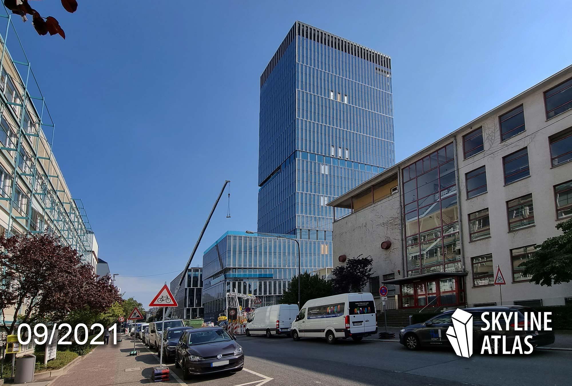 FFM Senckenberg Turm - Dino Turm Frankfurt - Dinosaurier Turm Frankfurt am Main - Baustelle September 2021