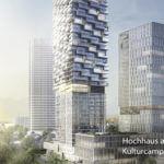 Hochhaus am Kulturcampus Frankfurt Uni Gelände Senckenberganlage