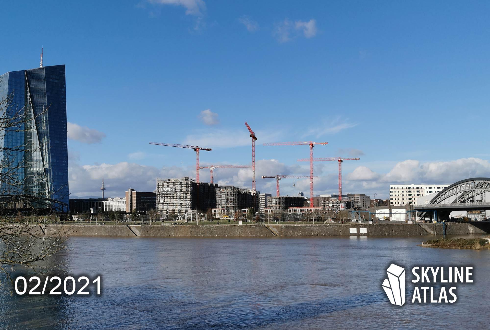 HPQ Frankfurt am Main - Hafenpark Quartier Ostend - Hafenpark Quartier von Bauwens und B&L Gruppe - Februar 2021 - Wohnungen Ostend