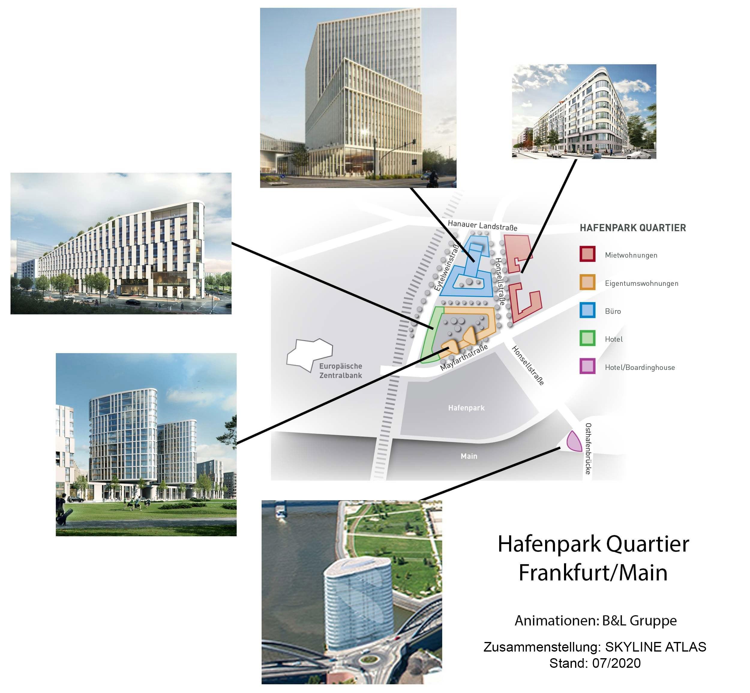 HPQ - Hafenpark Quartier Frankfurt am Main - Neubau Osthafen - Wohnungen zur Miete - geplante Wohnungen mit Mainblick