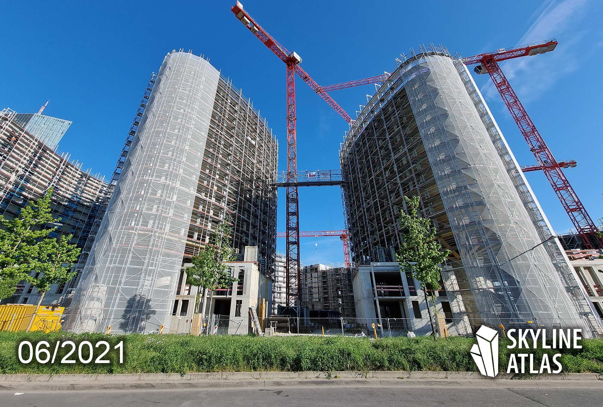 HPQ Living - Hafenpark Quartier Living - Baustelle Juni 2021 - Eigentumswohnungen Ostend FFM