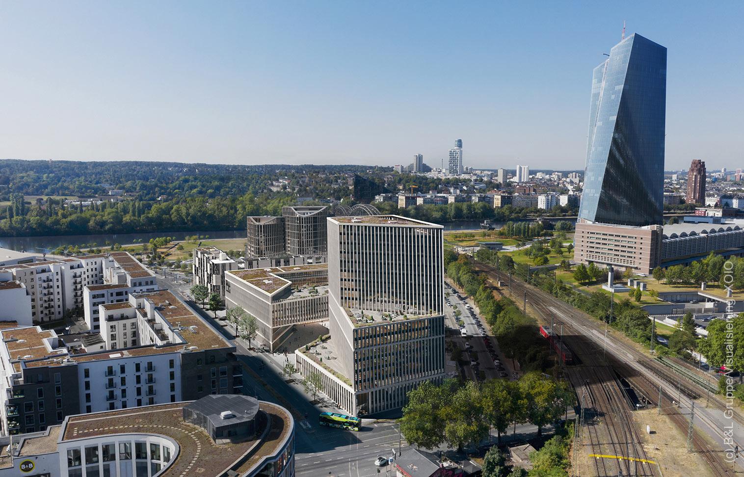 HPQ Office Campus - Hafenpark Quartier Bürogebäude - Frankfurt Ostend Büros