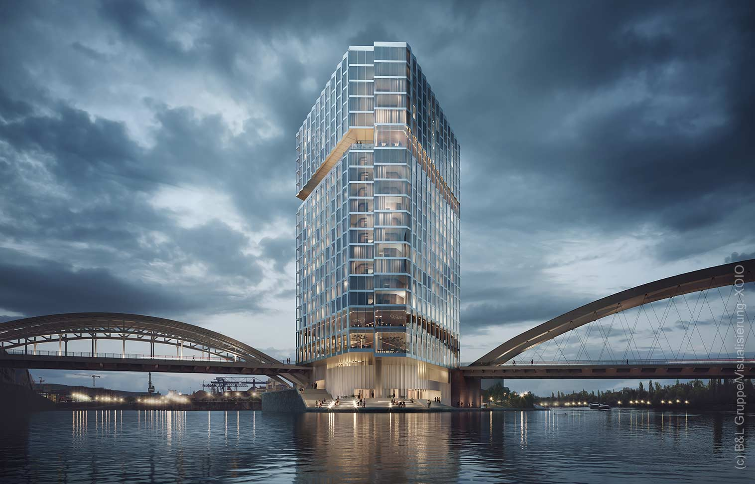 HPQ Waterfront Hotel - Frankfurt Waterfront - FFM Hotel Main - Animation (c) XOIO