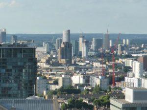 Wolkenkratzer Krähne Bauen London