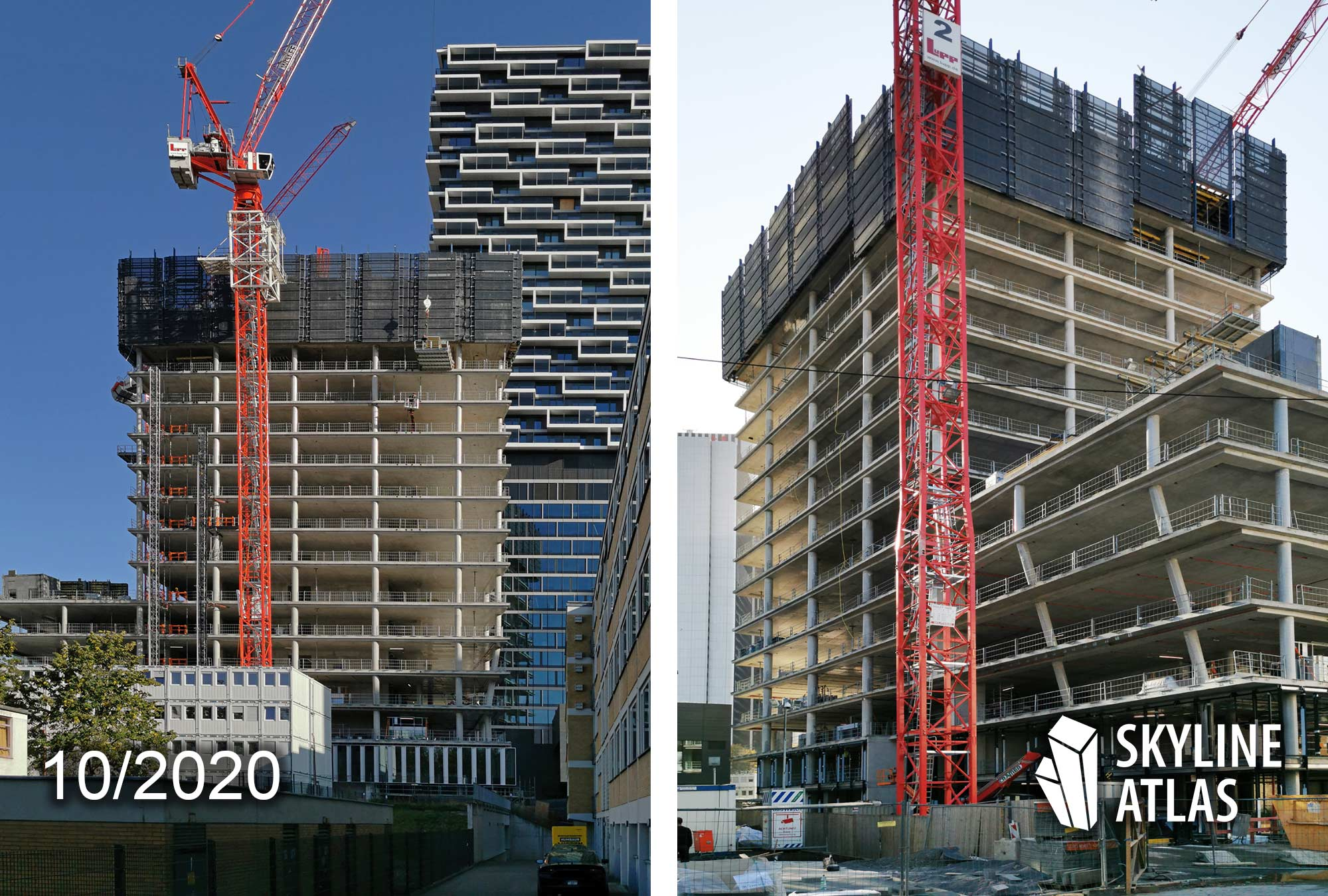 Senckenberg Turm Frankfurt - 99 West - Ninty Nine West - Baustelle Oktober 2020