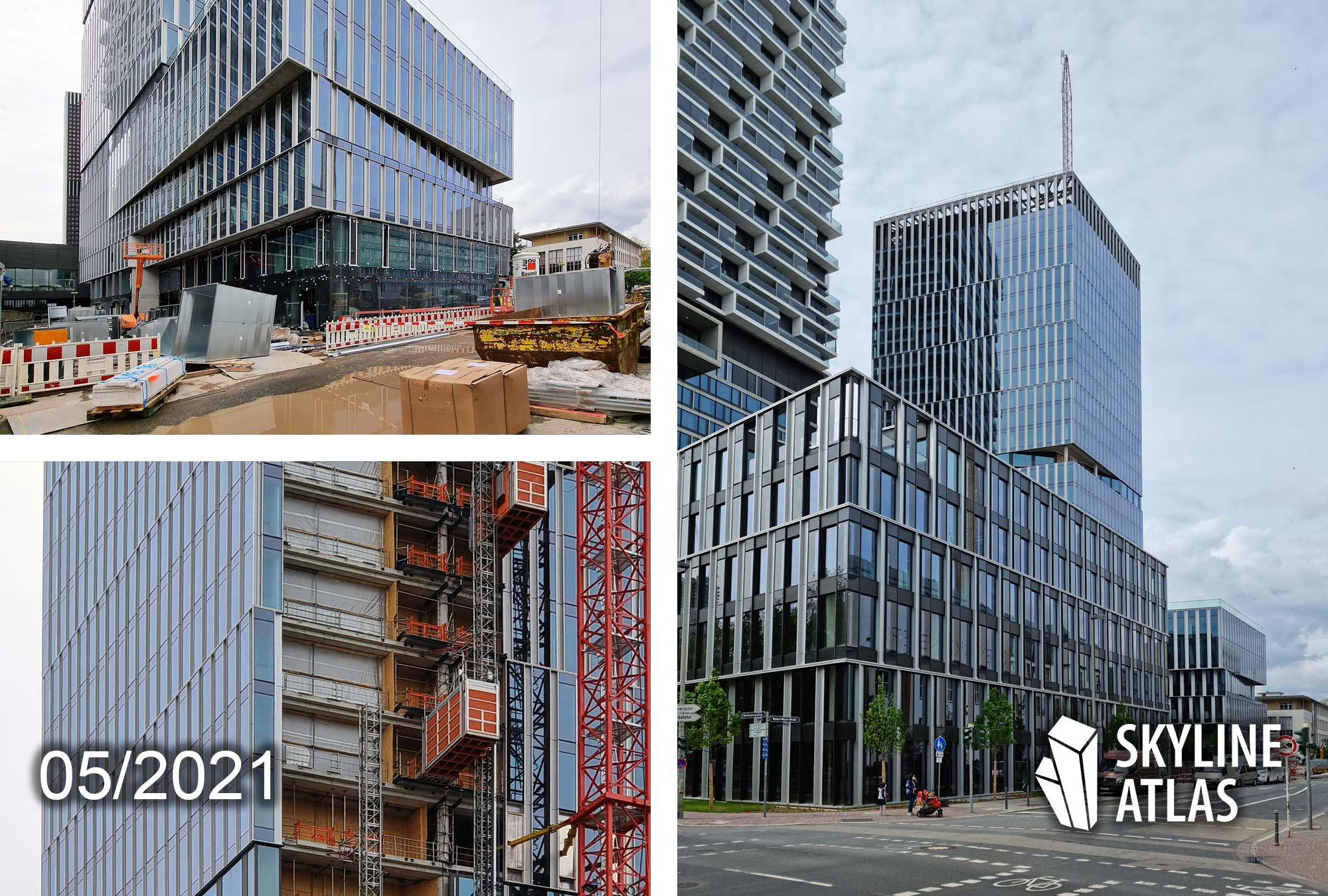 Senckenbergturm FFM - Senckberg Turm Frankfurt am Main - NAS Invest - Baustelle Hochhaus Mai 2021