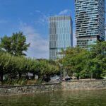 Senckenbergturm FFM - Senckenberg Turm Frankfurt - Hochhaus am Kulturcampus - BNP Paribas Deutschland Zentrale - September 2021