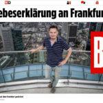 Bild Zeitung Frankfurt Hochhäuser