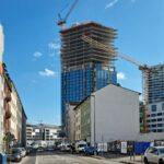 The Spin Frankfurt - Spin Tower FFM - Neues Bürohochhaus am Güterplatz - Sommer 2021 - Büroflächen Frankfurt mit Aussicht - Büros Skylineblick