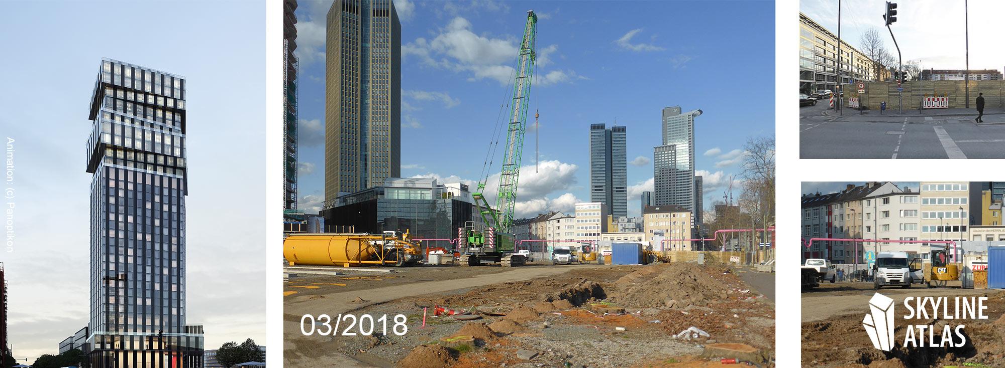 The Spin Tower Frankfurt - März 2018