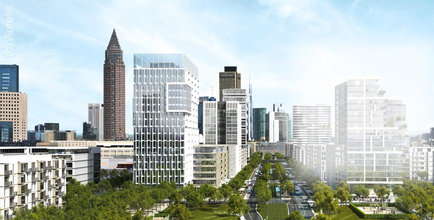 Hochhaus geplant Baufeld 43 Frankfurt Europaviertel