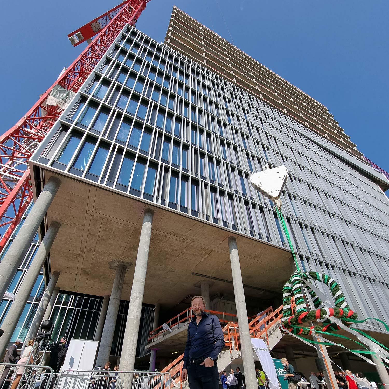 Eike Becker Berlin - Architekt - Richtfest FAZ Tower - 9. September 2021