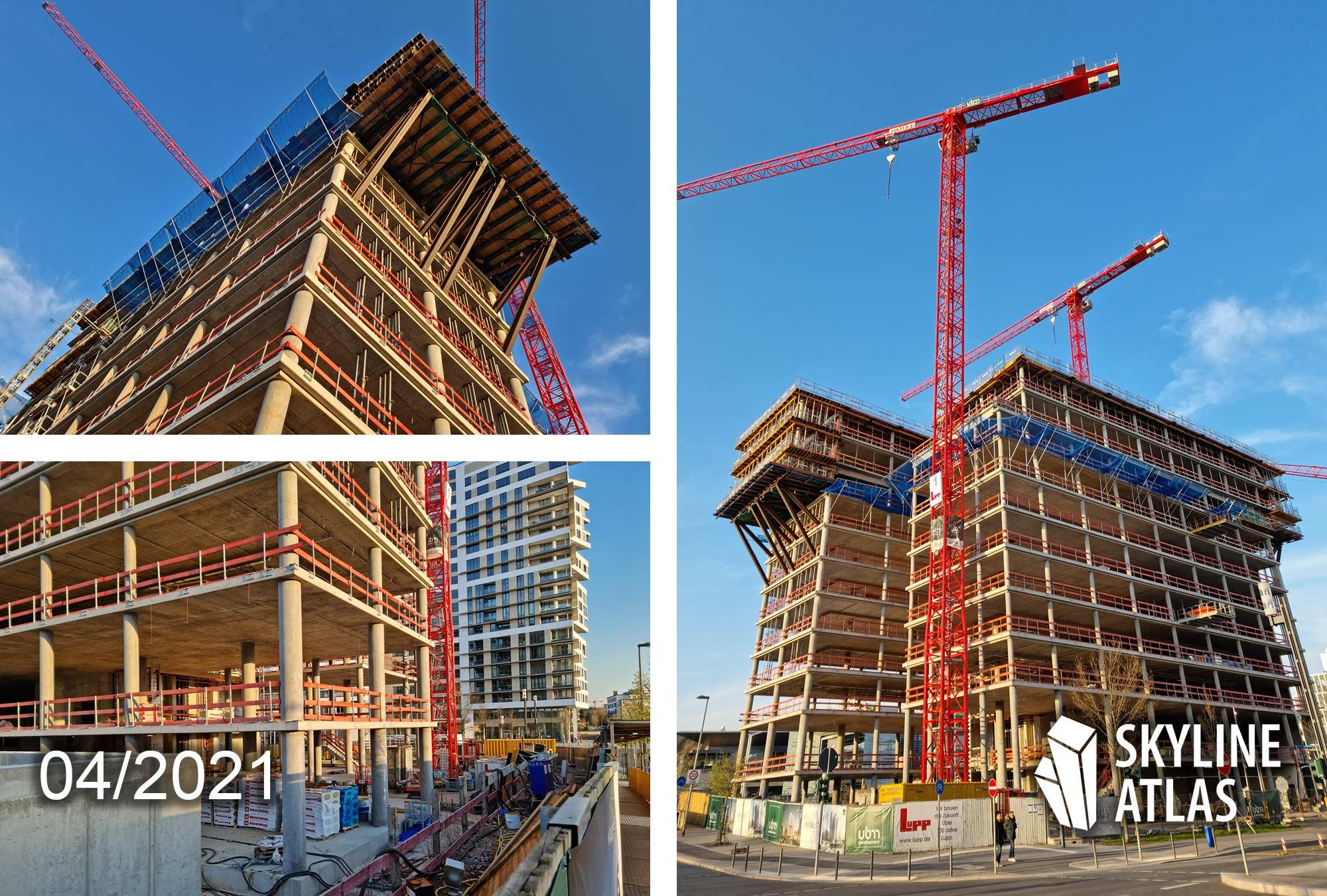 Frankfurter Allgemeine Zeitung Neubau - FAZ Tower FFM - April 2021 Baustelle F.A.Z,